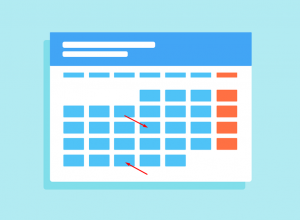 A calendar showing a month