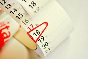 A date on a calendar