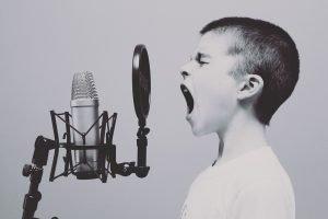 Kid shouting.