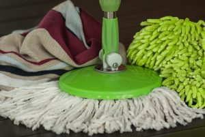 Broom used for preventing moisture in your storage unit