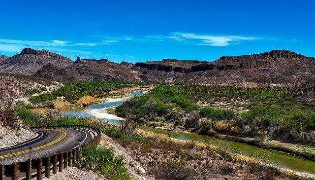 Rio Grande river in Texas