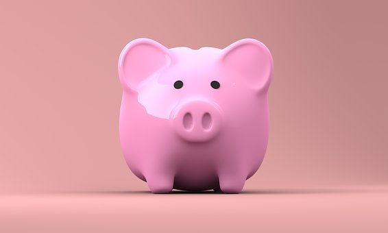 Piggy bank representing money saved by You can save money by going green in your storage unit