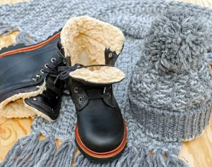 Wear a hat and boots in you are moving in winter.