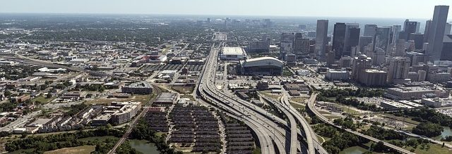 Areal View of Houston