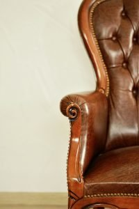 Use leather conditioner before you store antique furniture.