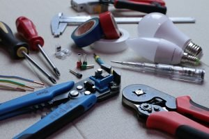 Tools used to fix faulty wiring