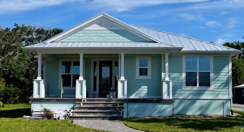 A nice blue house