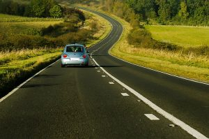 A car on an open road