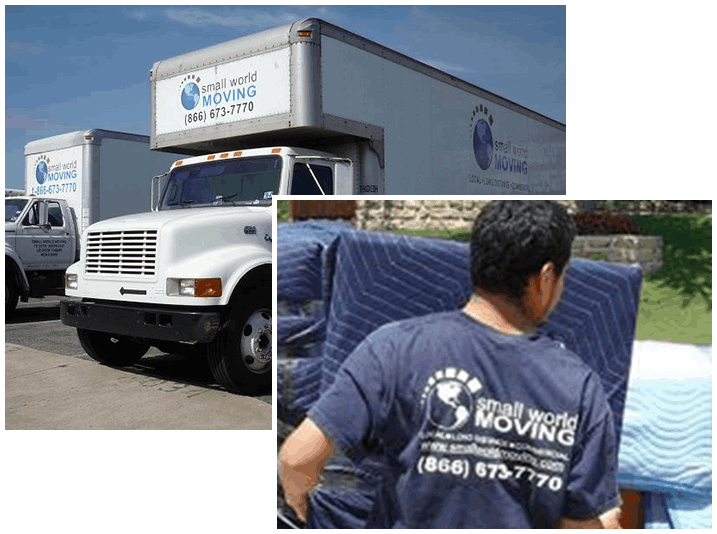 Truck and employee