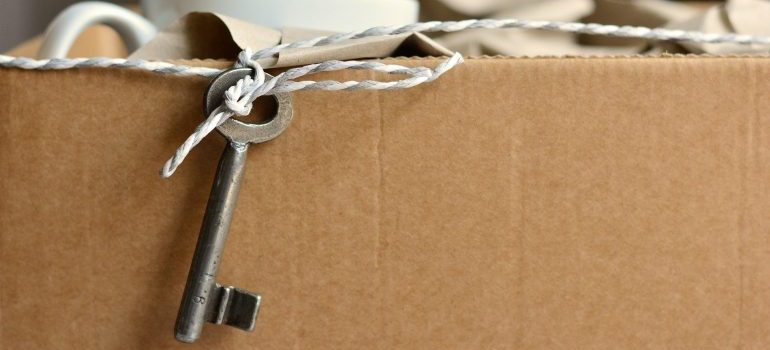 cardboard box-key