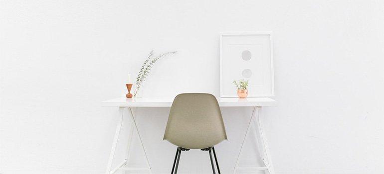A minimalist work area