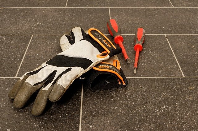 Working gloves and tools