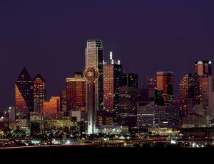 Dallas nighttime skyline