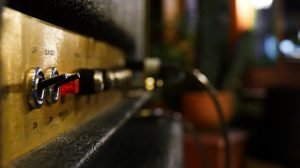 Move to Fort Worth: a closeup of a Marshall amp
