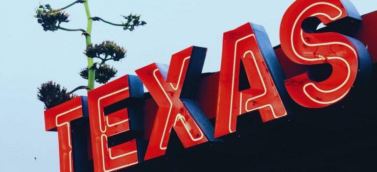 A Texas light sign