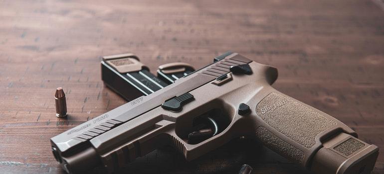 A semi automatic pistol
