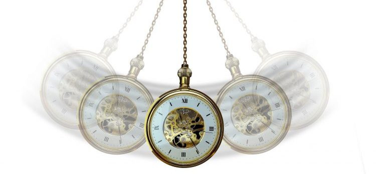 A pendulum which needs to be secured before you pack and move your grandfather clock.
