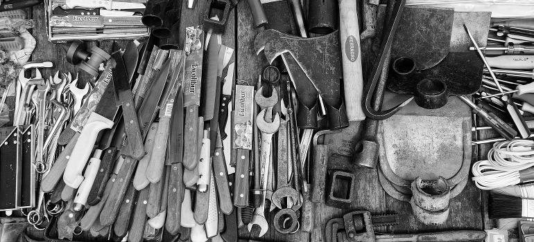 pile of various tools