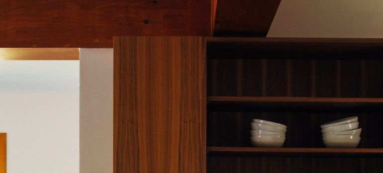 Wooden shelves, one of the best in-home storage fixes you can get