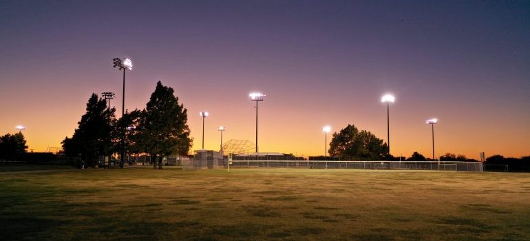 A stadium in Plano, which provides activities for the resident of the best Plano neighborhoods for millennials