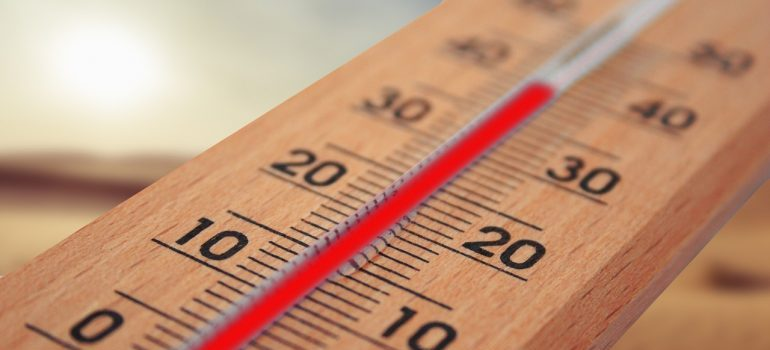 thermometer - people usually leave Fort Worth