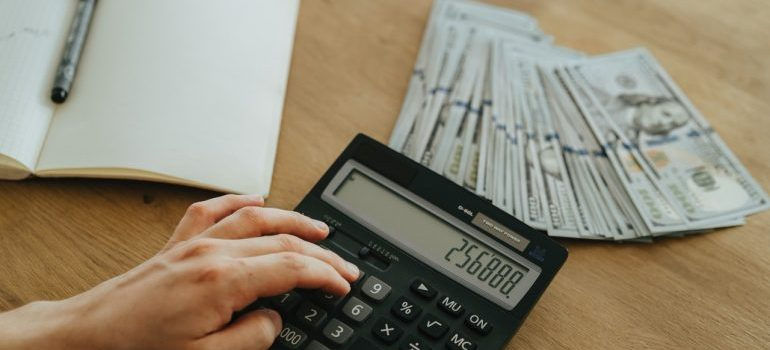 A person budgeting for a month.
